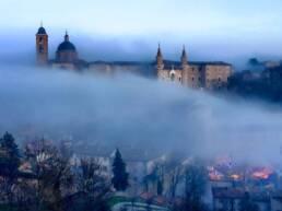 urbino nebbia